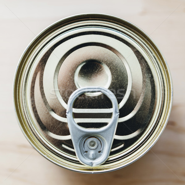 Tin can with ring pull from above Stock photo © ifeelstock