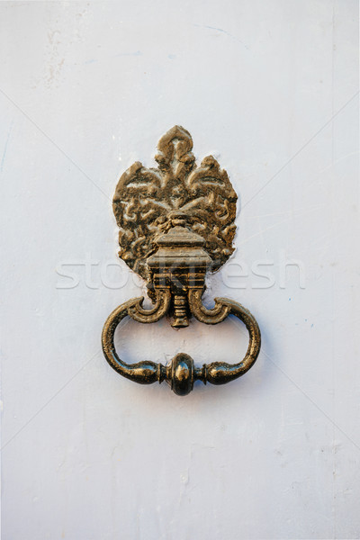 Vintage copper door knocker Stock photo © ifeelstock