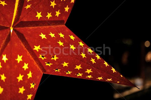 Closeup of christmas star Stock photo © ifeelstock