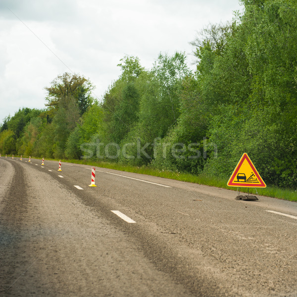 Loose gravel on the highway Stock photo © ifeelstock