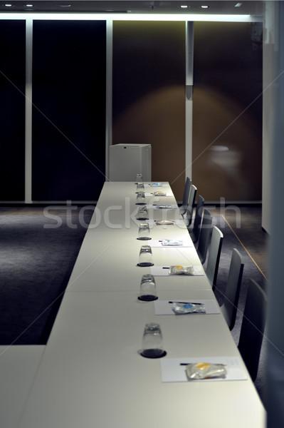 Konferans salonu boş büyük konferans tablo küçük Stok fotoğraf © ifeelstock