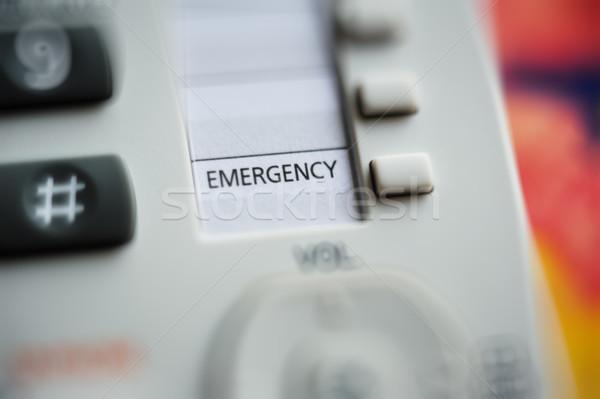 Emergency button Stock photo © ifeelstock
