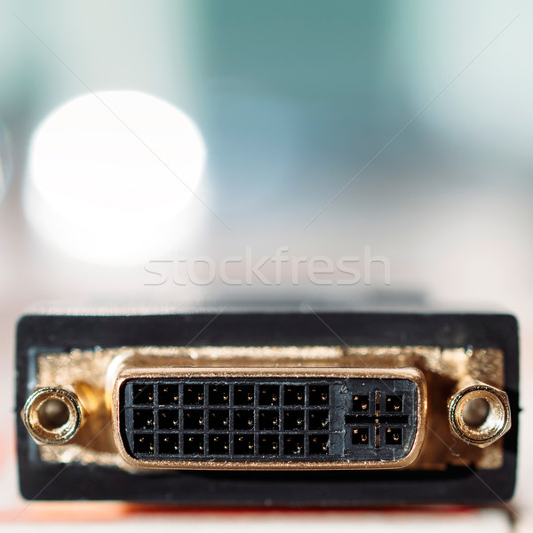 DVI input connector Stock photo © ifeelstock