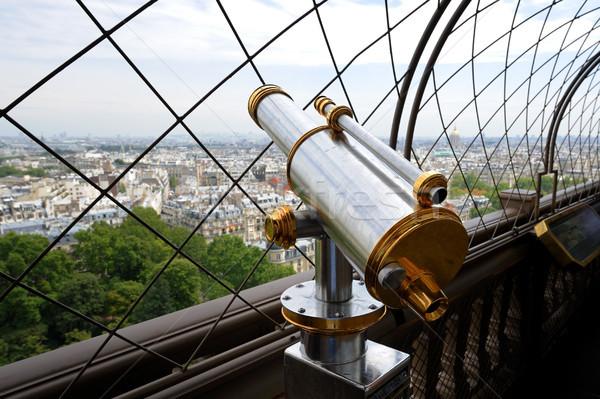 Binocolo Parigi telescopio top piano Torre Eiffel Foto d'archivio © ifeelstock