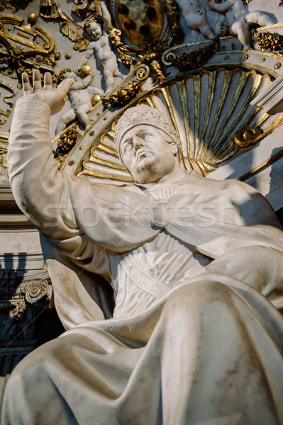 Statue of Pope Leo X by Bandinelli Stock photo © ifeelstock