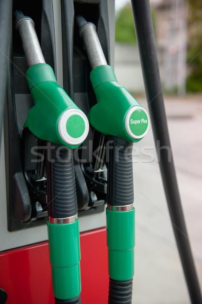 Benzyny pompować dwa zielone moc Zdjęcia stock © ifeelstock
