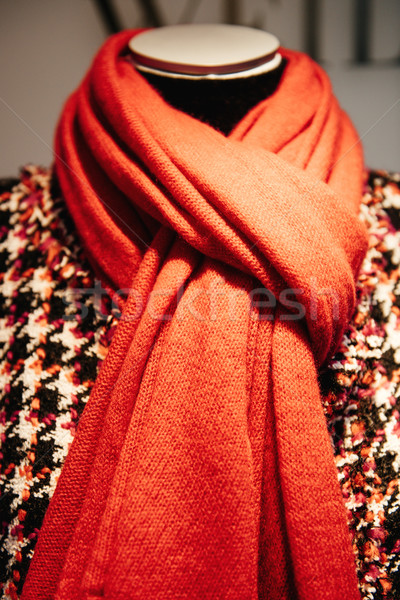 Mannequin wearing red scarf Stock photo © ifeelstock