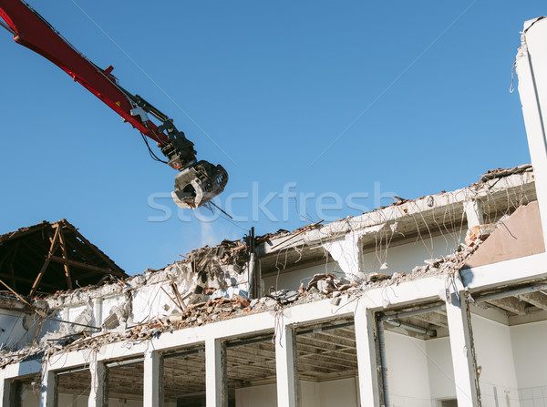 Demolition process - new beginings Stock photo © ifeelstock