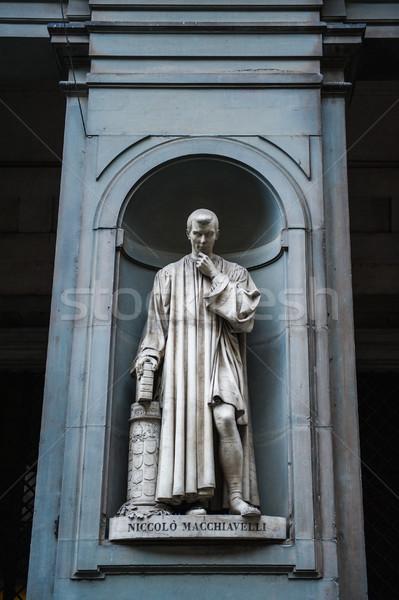 Statue of Nicollo Macchiavelli Stock photo © ifeelstock