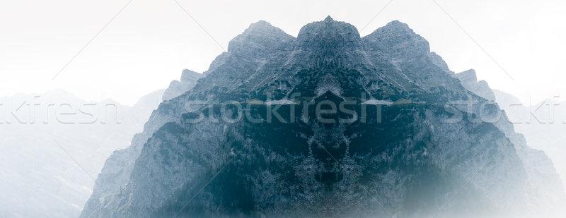 Szeszélyes hegy Alpok tájkép hó jég Stock fotó © ifeelstock