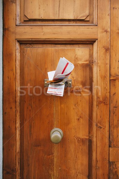 Magazines in a letterbox of a door Stock photo © ifeelstock