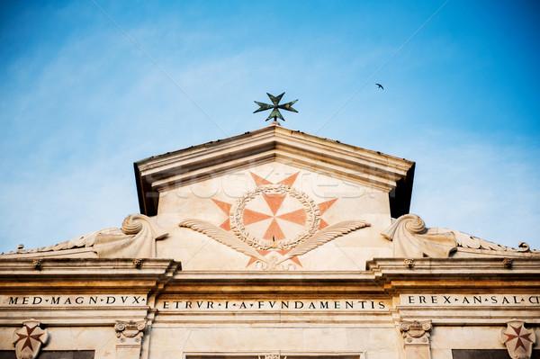 Olaszország építkezés 17 rendelés épít templom Stock fotó © ifeelstock