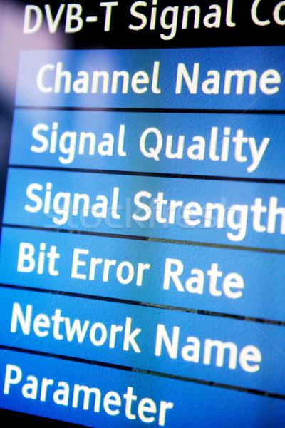 Tv jel menü minőség modern televízió Stock fotó © ifeelstock