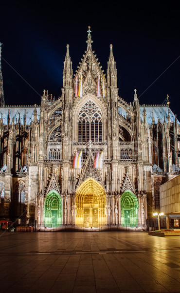 Cologne Cathedral dacade and all its splendour Stock photo © ifeelstock