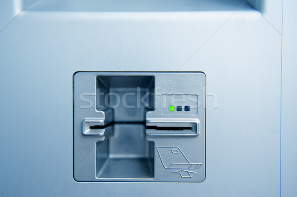 Atm trésorerie point vide bleu Photo stock © ifeelstock