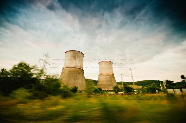 Nuclear power plant Stock photo © ifeelstock