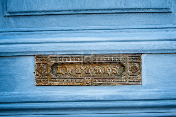 Vintage French letterbox Stock photo © ifeelstock