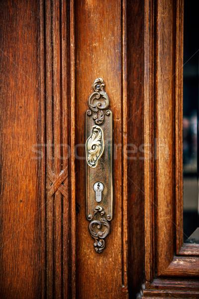 Vintage antique door handle Stock photo © ifeelstock