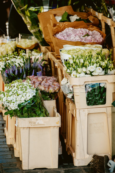 London typical flower market Stock photo © ifeelstock