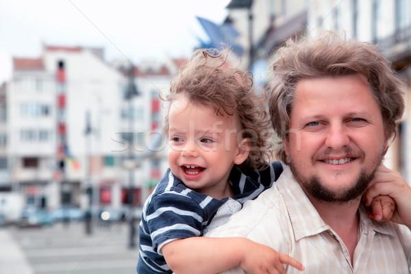 Ragazzo ridere daddy baby bambino Foto d'archivio © igabriela