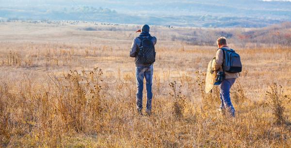 области ходьбе закат деревне природы науки Сток-фото © igabriela