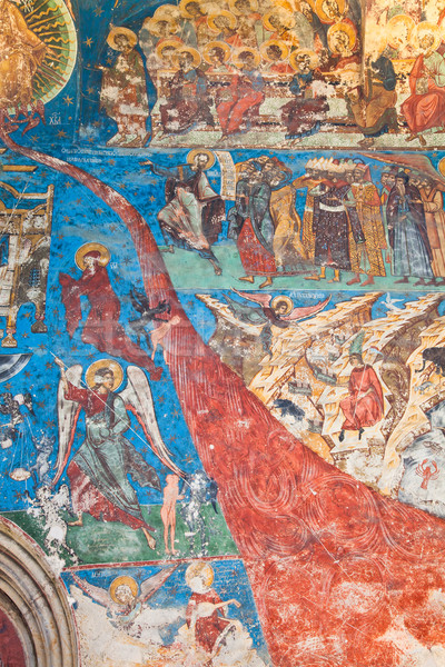Last Judgement at Humor Monastery Stock photo © igabriela