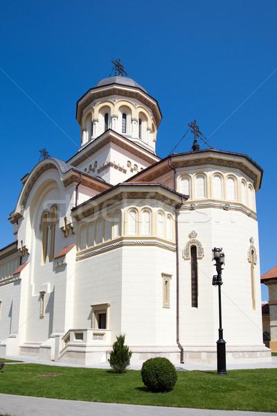 Ortodoxo catedral ciudad Rumania cielo azul Europa Foto stock © igabriela
