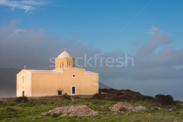 Kerk Griekenland gebouw landschap weer Grieks Stockfoto © igabriela