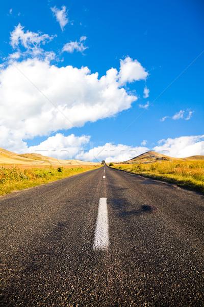 ストックフォト: 道路 · 秋 · 地域 · ルーマニア · 国