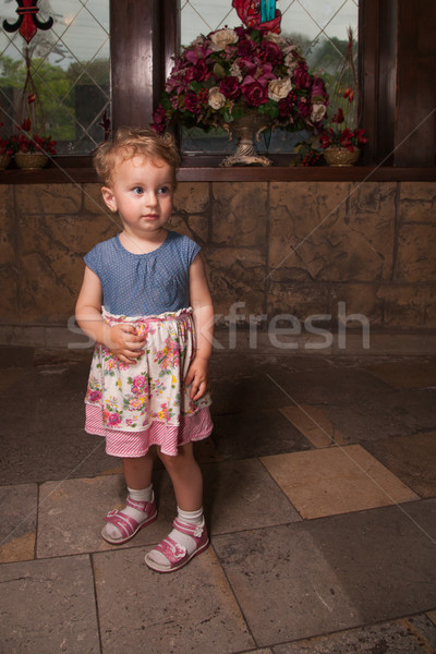 1 year old baby girl portrait Stock photo © igabriela