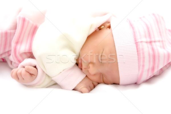 睡眠 新しい 生まれる 少女 子 ストックフォト © igabriela