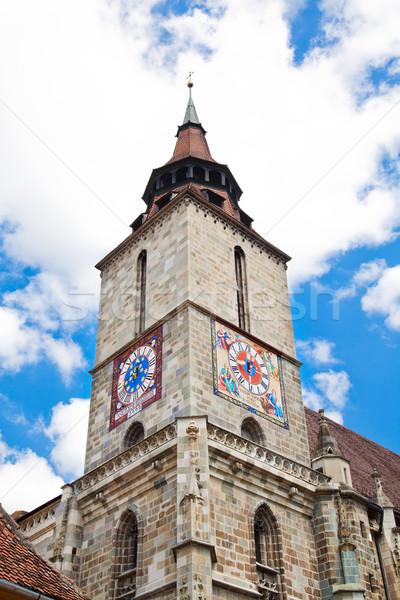 Zwarte kerk Roemenië 30 2010 architectuur Stockfoto © igabriela