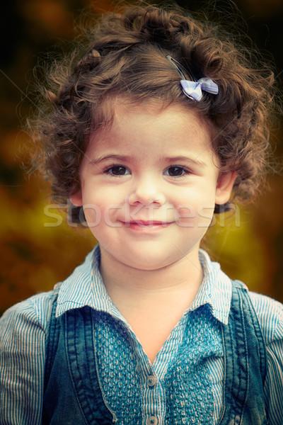 Kislány portré szabadtér kétéves lány tavasz Stock fotó © igabriela