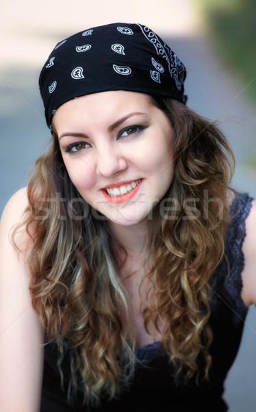 Открытый портрет красивой 20 год Сток-фото © igabriela