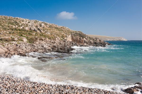 Kust landschap mooie Griekenland strand hemel Stockfoto © igabriela