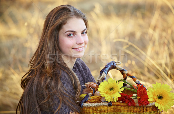 Beautiful young woman outdoor Stock photo © igabriela