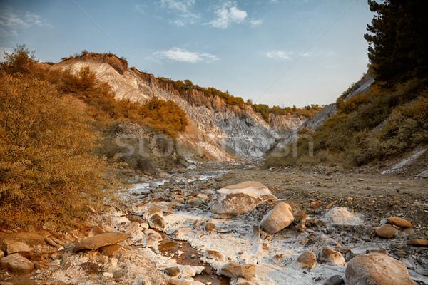 Tuzlu tepeler yaz su taş nehir Stok fotoğraf © igabriela