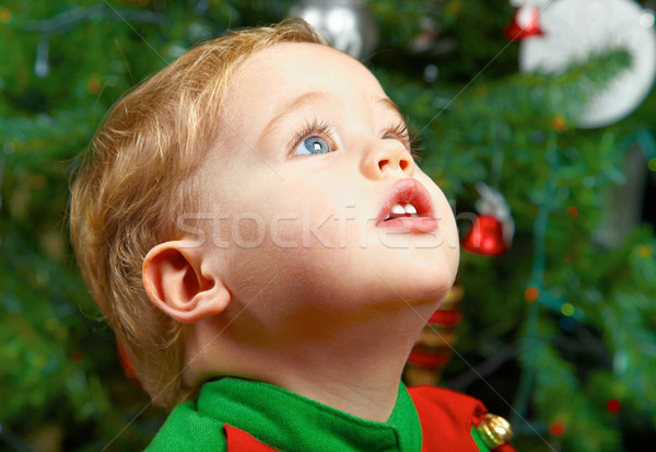 Baby boy on Christmas Stock photo © igabriela