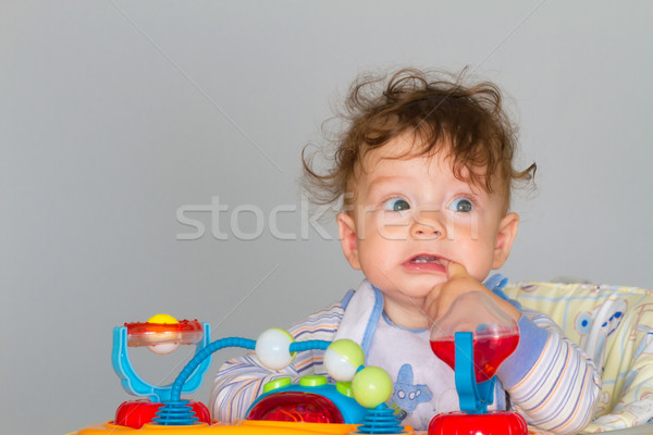 Baby boy in walker Stock photo © igabriela