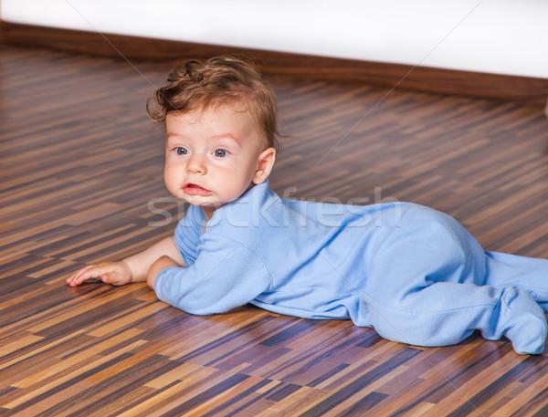 Meses bebé nino retrato edad casa Foto stock © igabriela