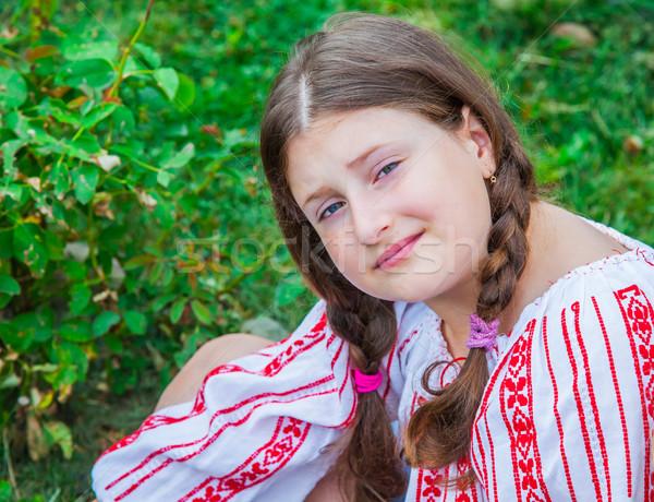 Meisje portret roemeense traditioneel Stockfoto © igabriela