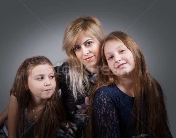 матери портрет красивой семьи лице Сток-фото © igabriela
