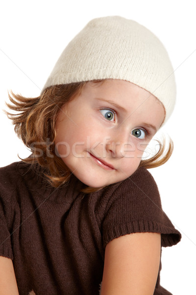 Funny little girl Stock photo © igabriela