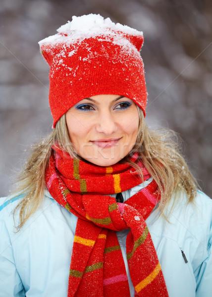 ストックフォト: 肖像 · 女性 · 屋外 · 冬 · 美しい · 20