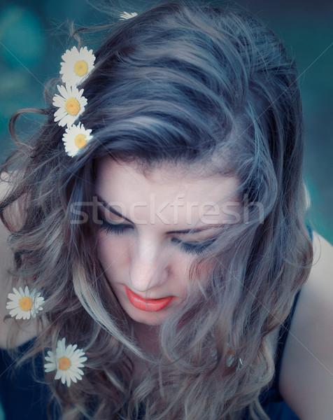 цветы волос портрет красивой 20 Сток-фото © igabriela