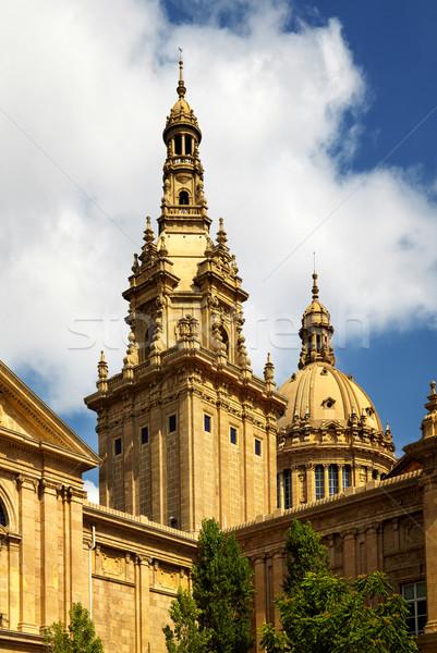 パラオ 塔 バルセロナ スペイン 城 アーキテクチャ ストックフォト © igabriela
