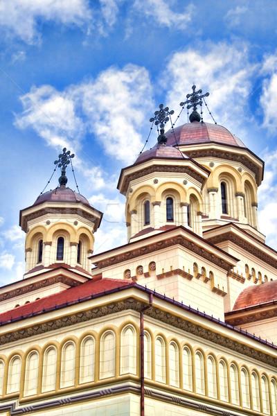 Ortodoxo catedral arquitectura religión amarillo Foto stock © igabriela
