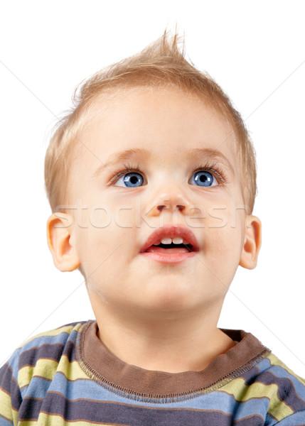 Boldog baba fiú stúdió portré egyéves Stock fotó © igabriela
