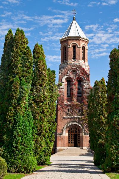 Iglesia monasterio secundario culto cielo azul color Foto stock © igabriela