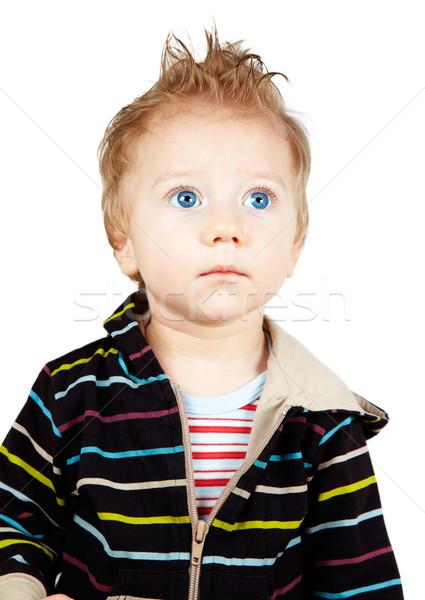 Komoly baba fiú stúdió portré egyéves Stock fotó © igabriela